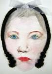 alice in wonderland 2011  aquarel,haar,lint 30x20cm